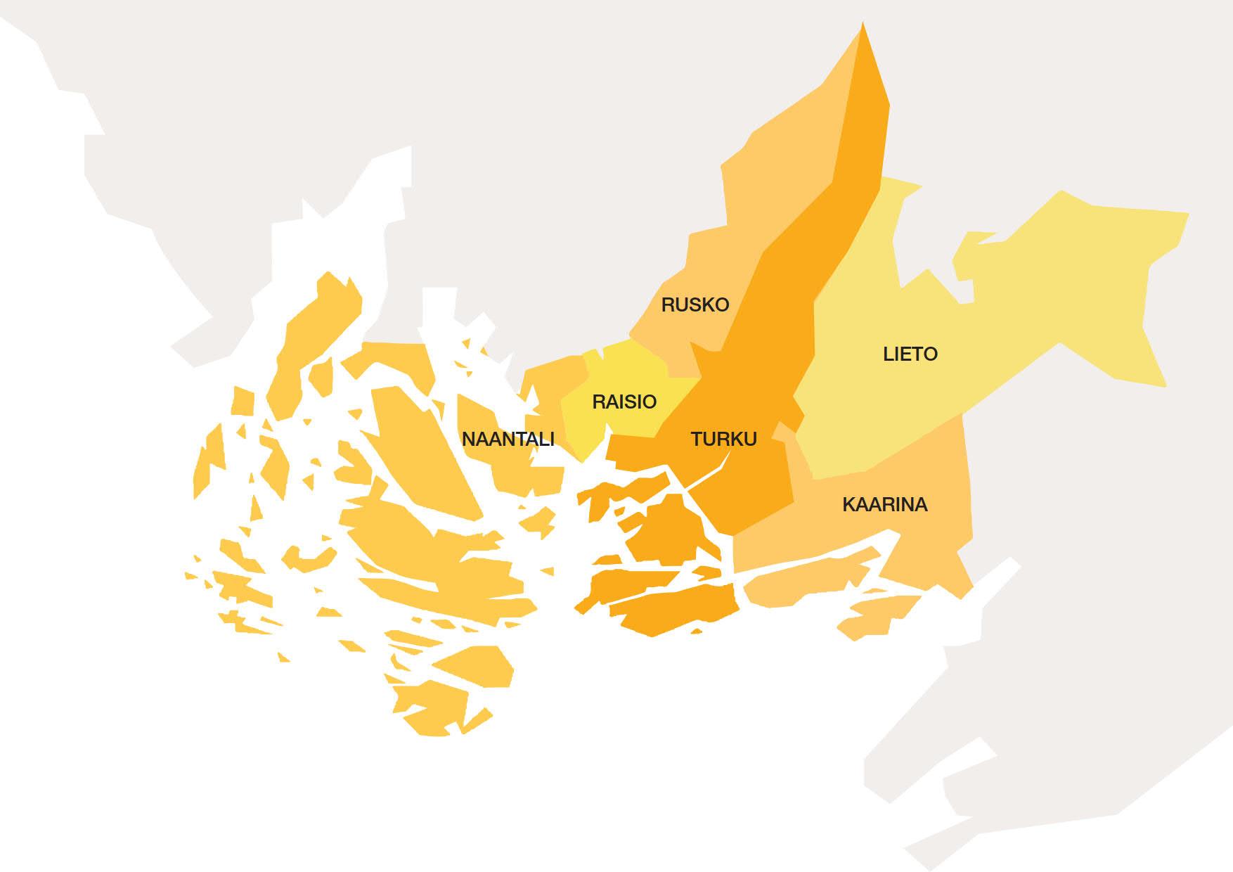 Fölin aluekartta